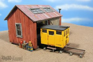 O Scale Speeder Shed
